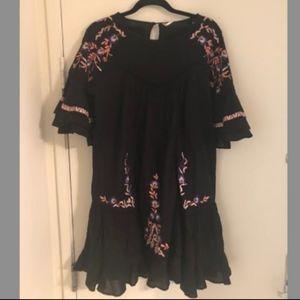 Free People Pavlo Ruffle Flounce Sleeve Dress M